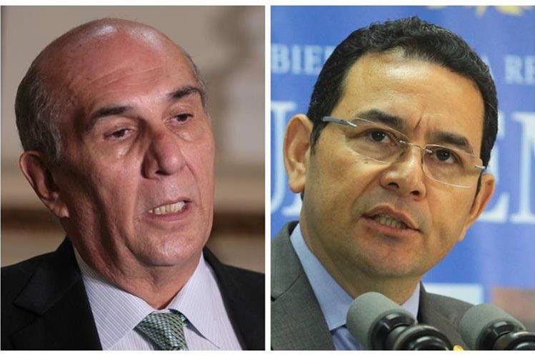 Mario Taracena se comunicó con Jimmy Morales por teléfono para hablar sobre los rumores de golpe de Estado.
