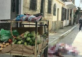 Una mujer murió luego de un ataque armado en la zona 12 de Villa Nueva. (Foto Prensa Libre: Estuardo Paredes)