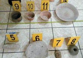 Piezas arqueológicas fueron halladas en una vivienda en la aldea Santa Catarina Bobadilla, Antigua Guatemala, Sacatepéquez (Foto Prensa Libre: MP)