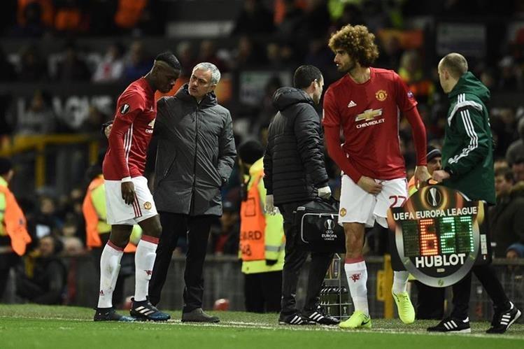 Pogba se lesionó en el partido contra el Rostov en Europa League. (Foto Prensa Libre: AFP)