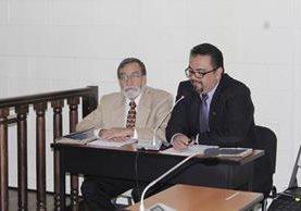 El alcalde Luis Grijalva, durante una audiencia judicial en agosto del año pasado. (Foto Prensa Libre: María José Longo)