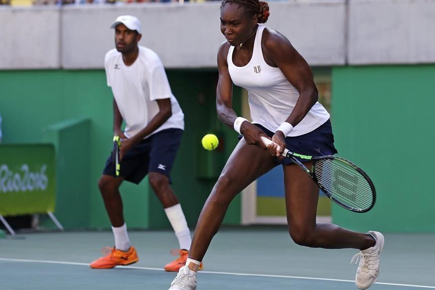 Venus jugó en pareja con Rajeev Ram en dobles de Río de Janeiro. (Foto Prensa Libre: AP=