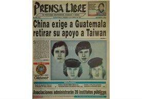 Portada de Prensa Libre del 10/01/1997 El Ministerio Público publica las fotos robot de los secuestradores de la empresaria Alvarado de Novella. (Foto: Hemeroteca PL)