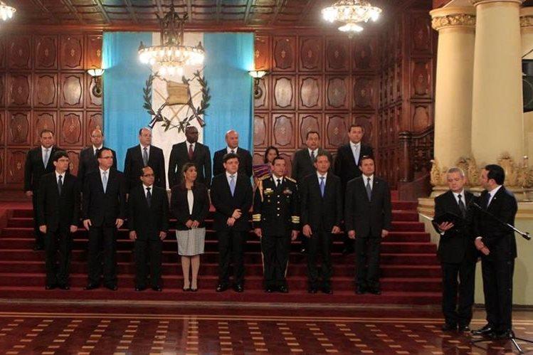 Acto de juramentación del Gabinete de Gobierno. (Foto Prensa Libre: Hemeroteca PL)