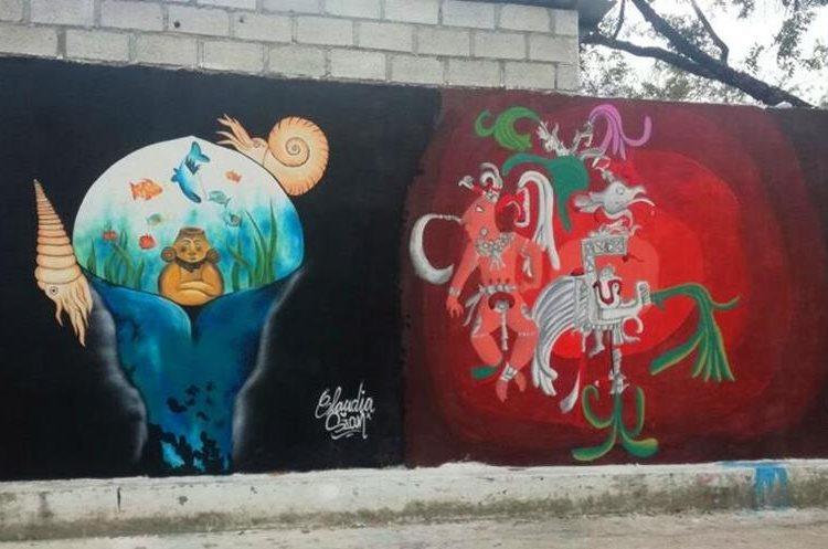 Colorido e historia resalta en los murales