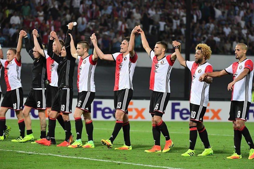 Los jugadores del Feyenoord lograron una gran victoria contra el United. (Foto Prensa Libre: AFP)