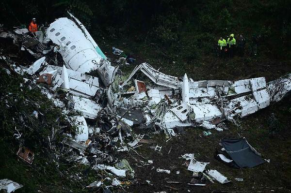 El avión se estrelló cerca de Medellín, Colombia dejando 71 muertos. (AFP).
