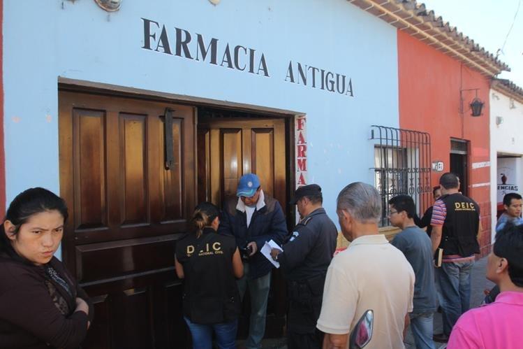 Negocio que objeto de robo en Antigua Guatemala, Sacatepéquez. (Foto Prensa Libre: Miguel López).