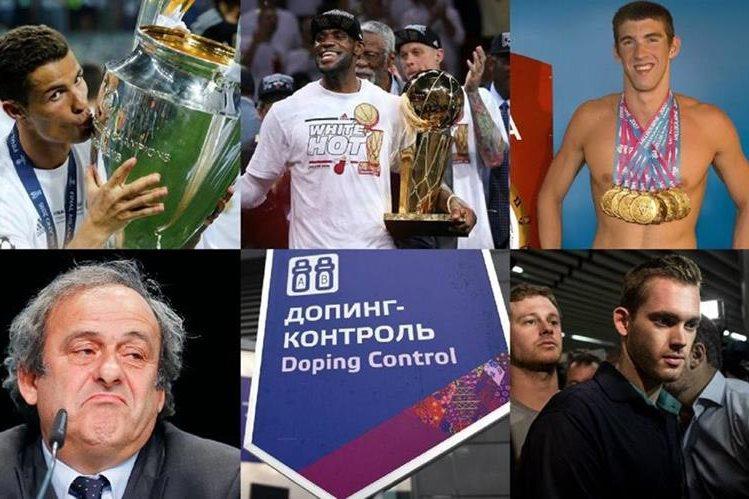 Ronaldo, Lebron y Phelps fueron de los grandes ganadores del 2016, a diferencia de Platini, el dopaje del deporte ruso y el escándalo de Lochte en los Juegos de Rïo. (Foto Prensa Libre: Hemeroteca)