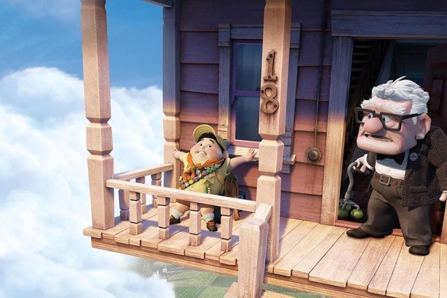 Escena de la película Up. (Foto Prensa Libre: Pixar/Disney)