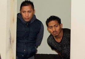 Freyman Aguilar y Max Alexánder Lucas son condenados por homicidio y robo. (Foto Prensa Libre: María Longo)
