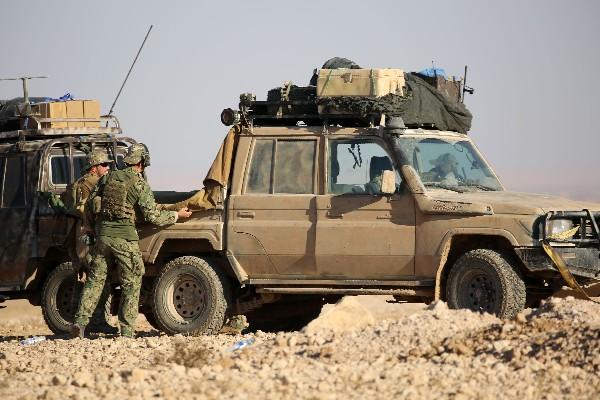 Efectivos de la alianza kurdo-árabe Fuerzas de Siria Democrática participan en la ofensiva. (AFP).