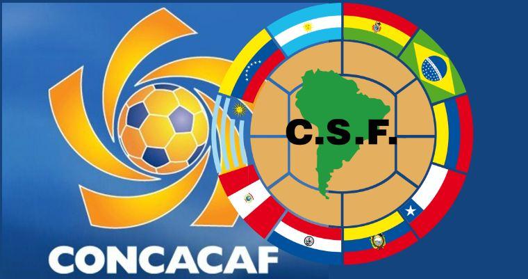 Resultado de imagen de Concacaf y Conmebol