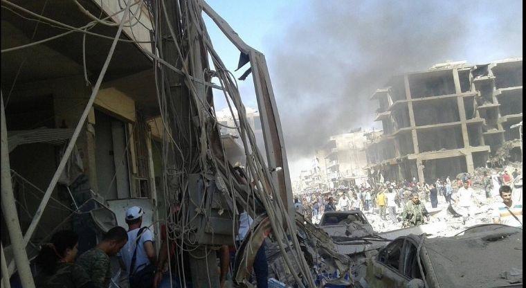 Explosión de coche bomba deja varios muertos en Siria. (Foto Prensa Libre: EFE)