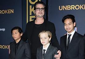Brad Pitt se centrará en mantener a sus hijos unidos. (Foto Prensa Libre: AP)