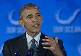 El presidente de EE. UU., Barack Obama, destaca la aportación de indocumentados hispanos. (Foto Prensa Libre: AP).