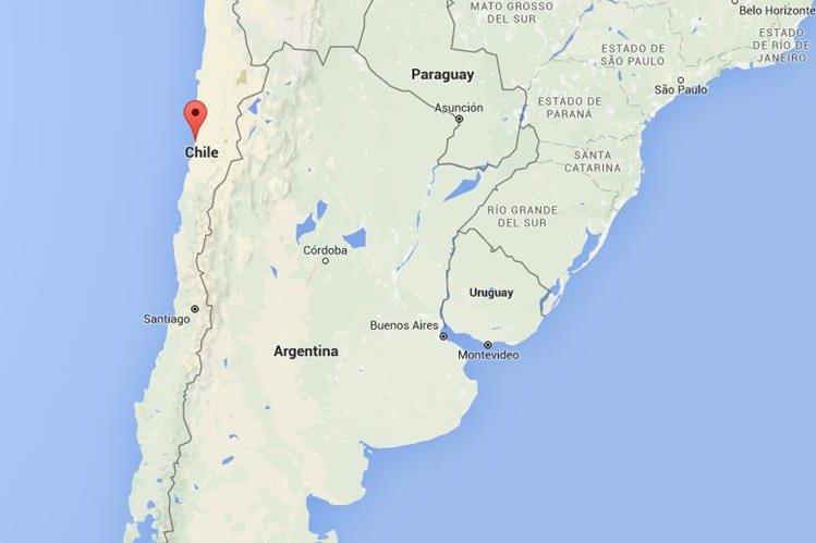 Ubicación de Chañaral a mil 632 kilómetros al norte de Santiago. (Foto: Google Maps).