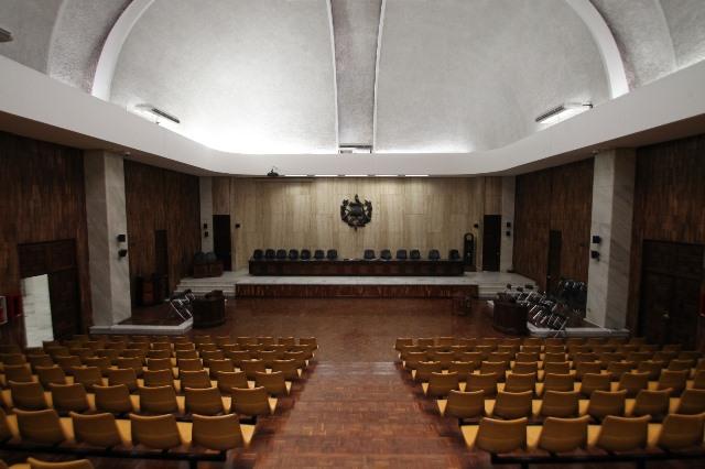 La CSJ autoriza usar la Sala de Vistas para audiencia del caso Cooptación del Estado. (Foto Prensa Libre: Hemeroteca PL)