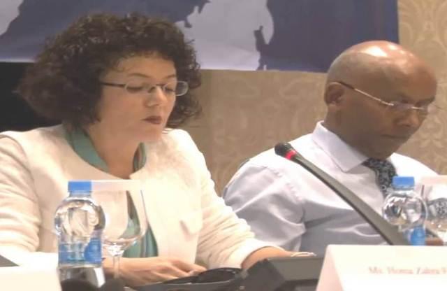 Homa-Zahra Fotouhi (izquierda), tomará posesión como nueva representante del BM en Guatemala. (Foto Prensa Libre: youtube.com)