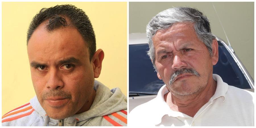 Mynor René Pérez Graves y Adán López Godoy fueron detenidos señalados de abusar a niños. (Foto Prensa Libre: PNC)