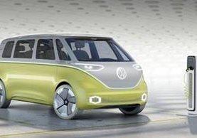 El microbus conceptual I.D. Buzz, de Volkswagen, es una de las estrellas del Auto Show en Detroit, EE. UU. (Foto Prensa Libre: Forbes).
