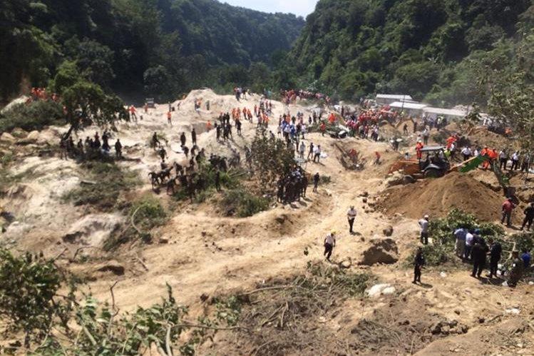 Área donde fue el deslizamiento en Cambrey 2. (Foto Prensa Libre: William Santos)