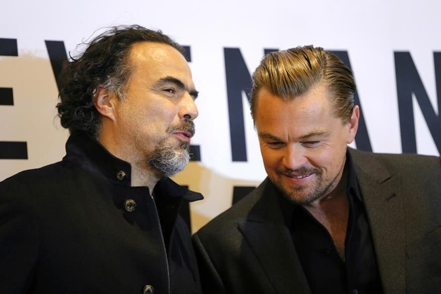 González Iñárritu y DiCaprio afirman que son buenos amigos.  (Foto Prensa Libre: AP)