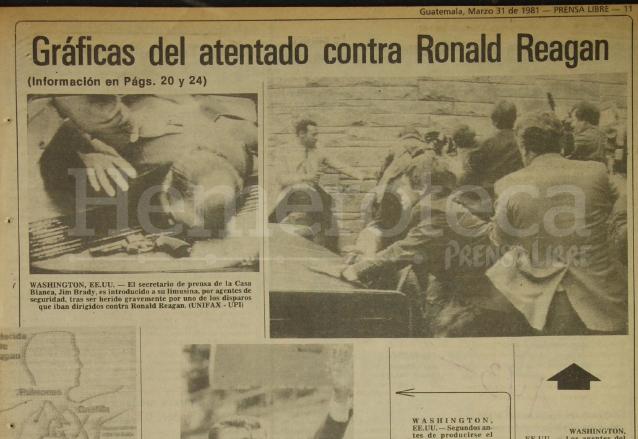 Fotografías de los momentos de tensión durante el ataque contra Reagan. (Foto: Hemeroteca PL)
