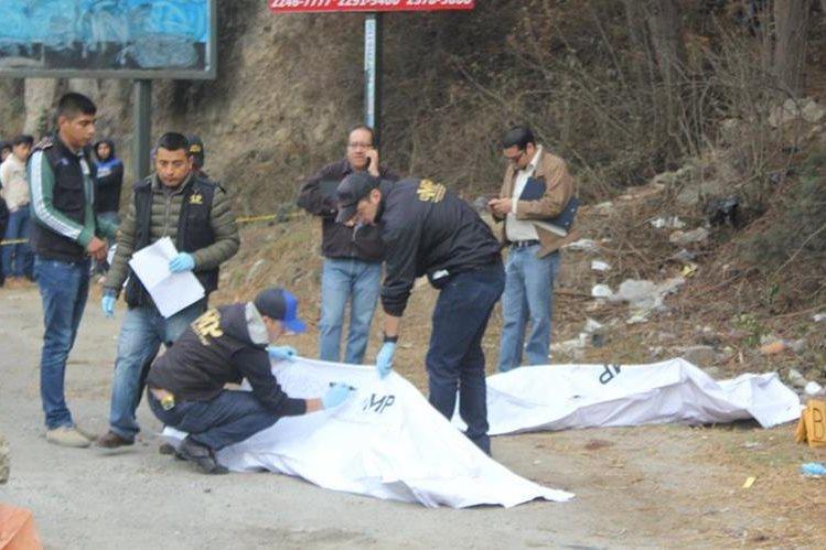 Lugar donde fueron localizados los dos cadáveres em Cantel. (Foto Prensa Libre: Fred Rivera).