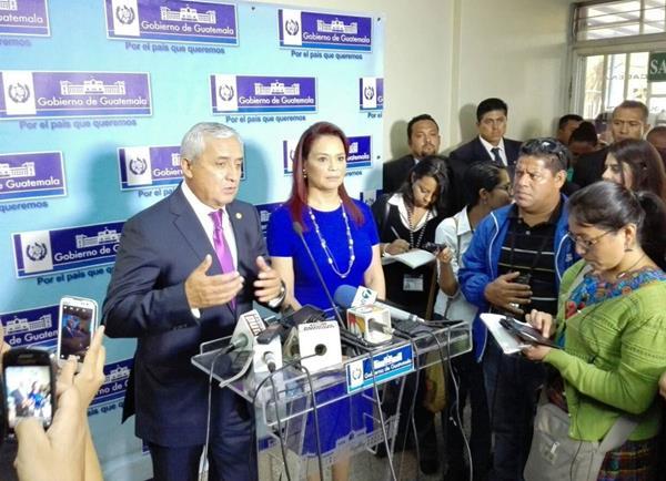 Pérez Molina dijo que no cederá a la presión de sectores que insisten en la continuidad de Cicig. (Foto Prensa Libre: E. Bercian)<br />