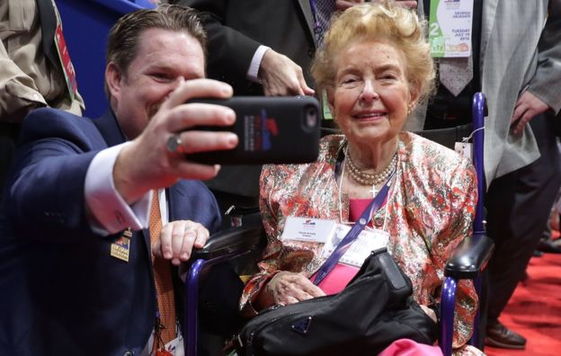 Phyllis Schlafly era toda una celebridad. GETTY IMAGES