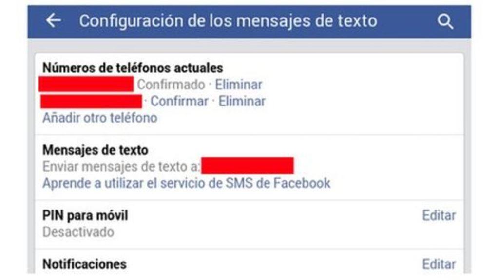 Tienes la opción de borrar los teléfonos que has confirmado o los que Facebook piensa que son tuyos. (FACEBOOK)