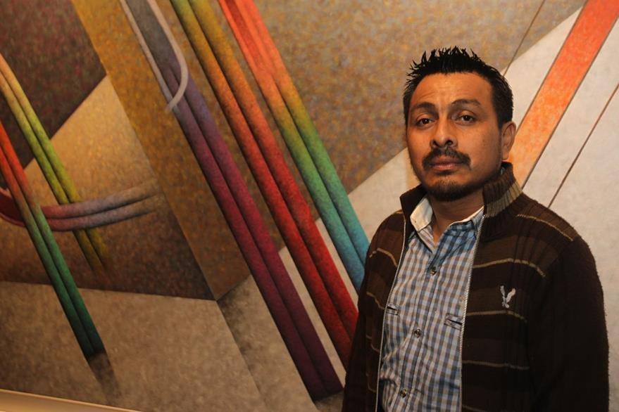 Artista visual Domingo Peneleu Tuch.  (Foto Prensa Libre: Edwin Castro).