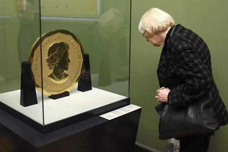 Roban inmensa moneda de oro en museo de Alemania. Foto Prensa Libre: DPA.