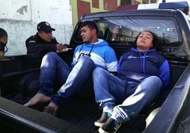 Erick Antonio Bernal López y Marta Cecilia Oliva John, fueron detenidos por las fuerzas de seguridad. (Foto Prensa Libre: PNC)