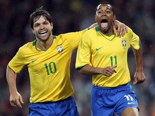 Diego Ribas y Robinho son las novedades en la convocatoria de Brasil para el amistoso contra Colombia.(Foto Prensa Libre: Cortesía @ElCoequipero).