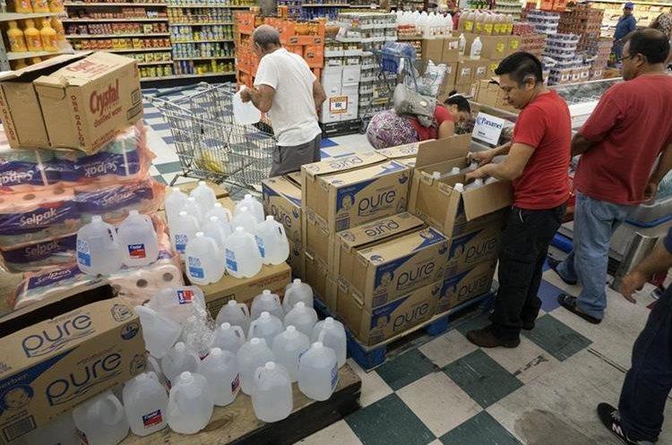 Ciudadanos de Miami compran provisiones ante la llegada del huracán Irma.(EFE).