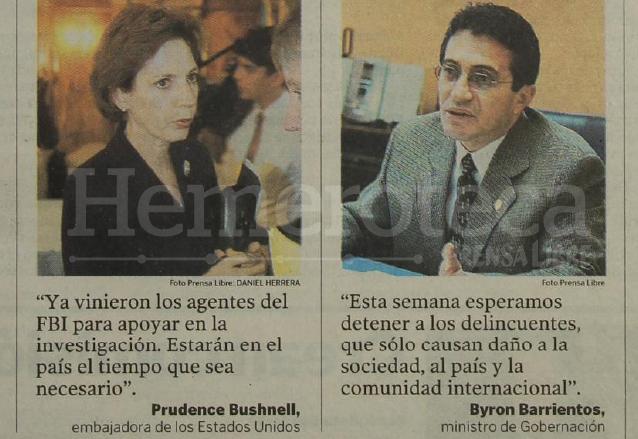 Opiniones de la embajadora de EE. UU. y del entonces ministro de Gobernación en torno al crimen contra la religiosa Ann Ford. (Foto: Hemeroteca PL)