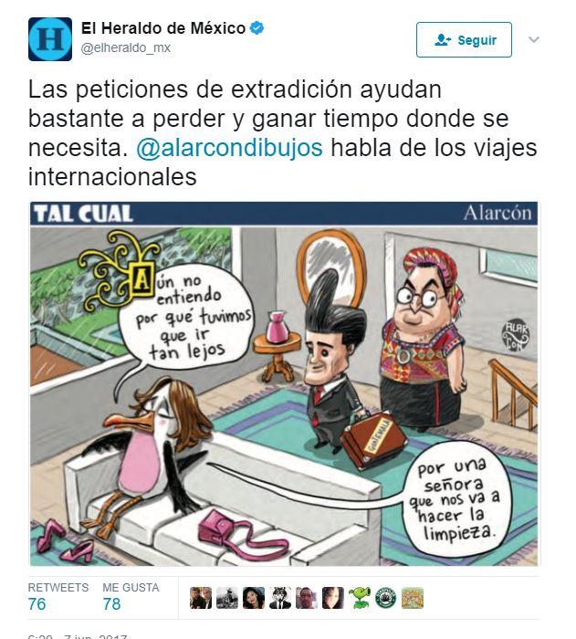 Cartón racista de Alarcón provoca reclamo de cancillería guatemalteca