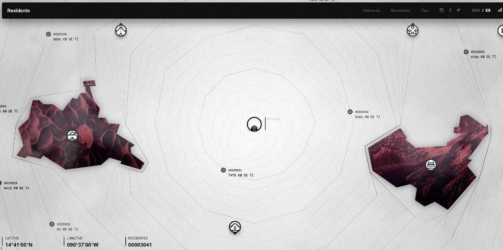 Así luce la página web de Residente.