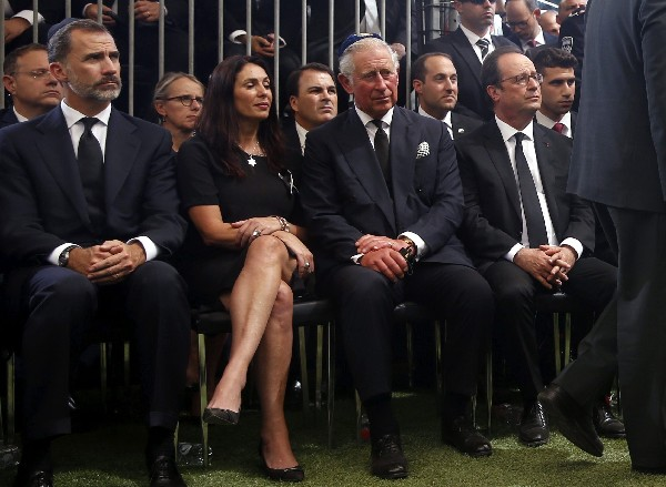 Israelíes y mandatarios de todo el mundo se reúnen en el funeral Shimon Peres. (EFE).