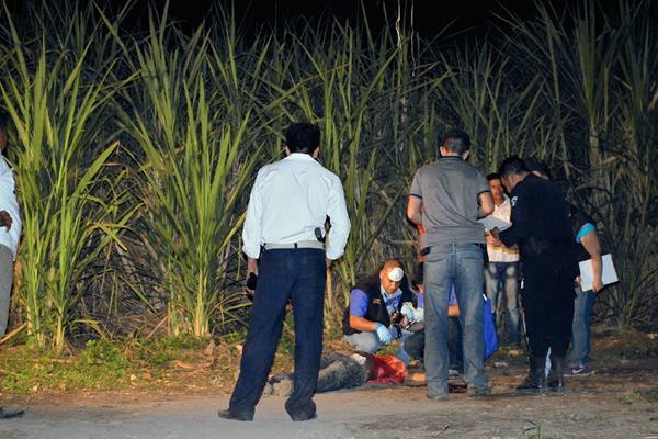 Fiscales del Ministerio Público recaban evidencia en el lugar del crimen. (Foto Prensa Libre: Carlos Paredes)