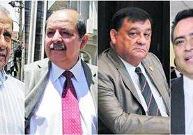 Los tres exdiputados integraron la Junta Directiva del Congreso en el periodo 2014-2015. -i- exdirector General del Legislativo.<br /> (Foto Prensa LIbre: Hemeroteca PL)