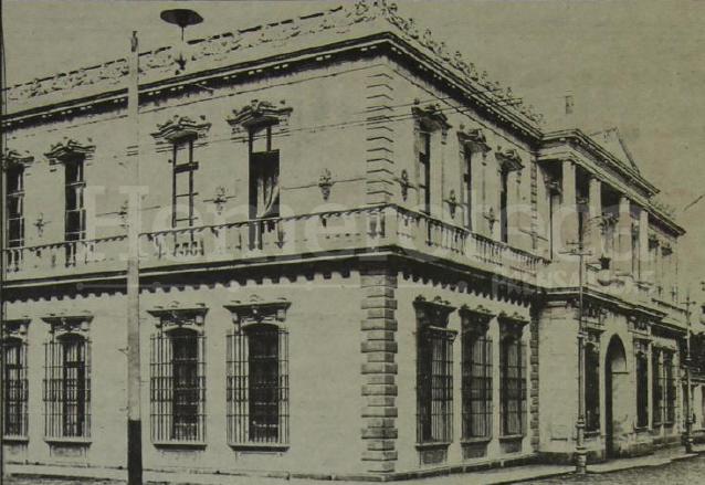 Antiguo Palacio Nacional, ubicado en la 5a. avenida y 8a. calle, en las cercanías fue asesinado el presidente Reina Barrios. (Foto: Hemeroteca PL)