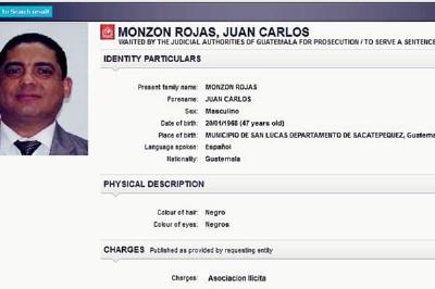 Desde este lunes la Interpol ya emitió la orden de captura internacional de Juan Carlos Monzón. (Foto Prensa Libre)
