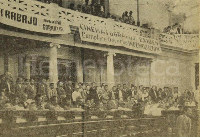 Una de las tantas sesiones de la Asamblea Nacional Constituyente de 1955 realizadas en el Hemiciclo del Congreso de la República. (Foto: Hemeroteca PL)