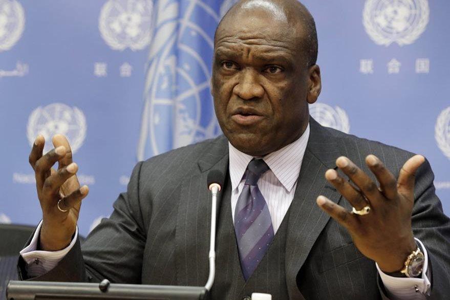 John Ashe, expresidente de Asamblea General de la ONU. (Foto Prensa Libre: Archivo/AP).