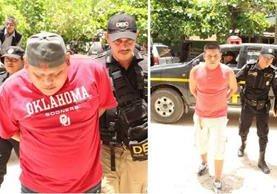 Kendel (i) y Juan (d), ambos de apellidos Martínez Aguilar, son sindicados por la muerte de una niña de 6 años. (Foto Prensa Libre: Rigoberto Escobar)