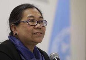 Relatora especial de la ONU pidió a El Salvador reconocer fenómeno de los desplazamientos forzados que generan las pandillas. (Foto Prensa Libre: EFE/Rodrigo Sura)