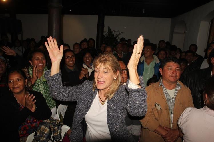 Susana Asencio fue electa alcaldesa de Antigua Guatemala. (Foto Prensa Libre: Miguel López)
